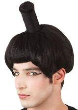 PERRUQUE Noire SUMO Déguisement Adulte Homme Costume Samourai Japonais