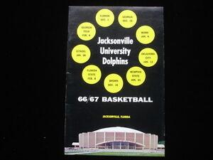 1966-67 Jacksonville University Dolphins Basketball Media Guide EX+