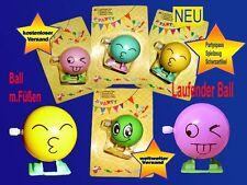 laufender Smily SMILEY Ball -Ball zum aufziehen Spielzeug Party.-Spassartikel