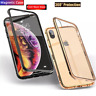 Apple IPhone XR Xs Max 7 8 Plus Metal Magnetic Double Side Tempered Glass Case