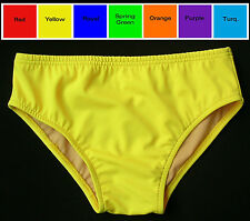MENS Swim Brief Swimsuit in Red, Orange, Turquoise, Green, Yellow, Purple, Blue