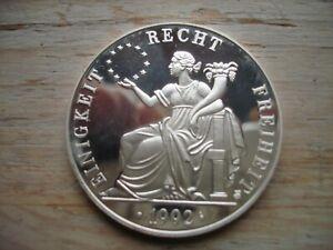 """Medaille  """"Deutschland - ECU"""" - 1 Unze Silber 1992"""