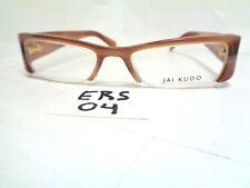 Nos JAI KUDO Eyeglasses Frame 1715 P09 D5 Brown Rectangular Half Rim (ERS-04)