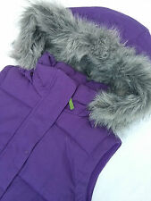 BNWT £69 Ness Heavy Warm Winter Gilet Jacket Coat Size 10 38 Furry Purple Harris