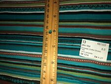 Polyester Chiffon Striped Teal 100% Polyester 8.0 Yards! - New!