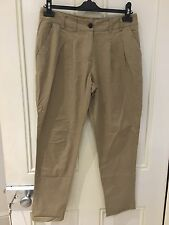 River Island Womens Slim Ankle Chinos, Beige Size 8