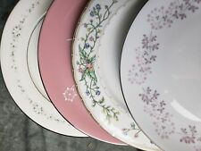 4 Vtg Floral Mismatched China Dinner Plates Noritake + More Beautiful DPxn