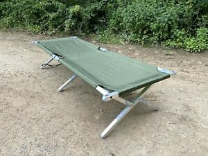 Genuine British Army Folding Cot Bed Heavy Duty US Style - New/Old Stock Fish...