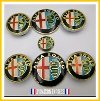Pack sticker  jante, volant, capot, coffre Logo métal alfa romeo