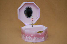 Octagonal Spinning Ballerina Music Box Jewelry Box
