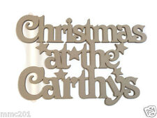 MDF Wooden Personalised Christmas Plaque 3mm Thick