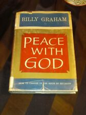Vintage Peace with God by Billy Graham 1953 Doubleday Hardcover  *Signed?
