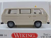 "Wiking 080014 VW T3 Bus (1979) ""TAXI"" in hellelfenbein 1:87/H0 NEU/OVP"