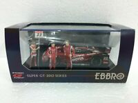 1/43 EBBRO 44901 NISSAN R35 GTR SUPERGT 2012 #23 MOTUL W/ RACING GIRL FIGURES