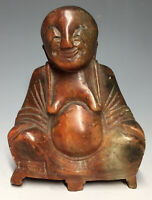 20th C. Shou Shan Stone Carved Statue Buddha Buddhai Shoushan Chinese