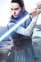 LAST JEDI - STAR WARS - REY POSTER - 22x34 MOVIE 14965