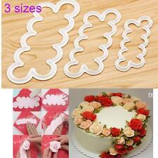 Petal Rose Flower Cutter Fondant Cake Sugarcraft DIY Decorating Mould Mold 3Pcs