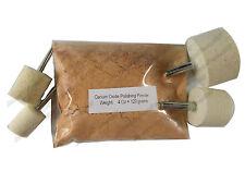 4 OZ Glass Polishing Kit Cerium Oxide Powder and 4 Felt  Wheels for Dremel