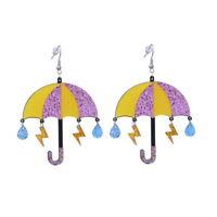 Women Boho Geometric Dangle Drop Hook Acrylic umbrella Resin Party Earrings