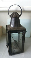 ANTIQUE / VINTAGE BLACK BARN LAMP / STORM LANTERN - 19 INCHES TALL