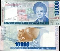 Costa Rica 10000 10,000 2009 P-277 Sloth Unc Colones