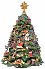 The San Francisco Music Box Company Jingle Bell Rotating Christmas Tree Figurine