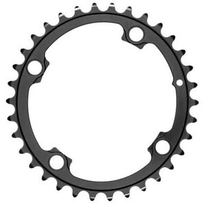 ABSOLUTE BLACK ROAD ROUND 2X FOR ALL SHIMANO 110 4 Bolt