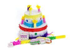 Pinata Torte Set, Pinjatta + Stab + Augenmaske, Kinder Geburtstag Spiel