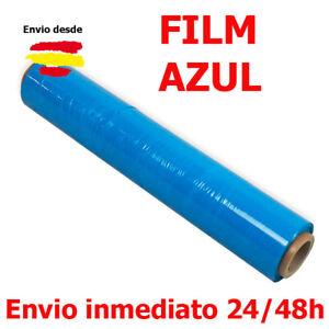 1 ROLLO FILM ESTIRABLE MANUAL AZUL 23 µ FILM AZUL ESTIRABLE BOBINA 2KG
