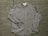 Columbia Mens Medium Button Down Shirt Plaid Cotton Long Sleeve Front Pocket