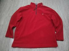TOMMY HILFIGER LION CREST Red Fleece Sweater Large Used