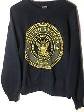 Vintage United States Navy Blue Crew Neck Sweatshirt~Size Medium~Very Nice