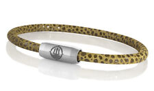 "Seemannsgarn _ Maritimes Leder Armband mit Rochen-Optik ""Sylt"" braun 4mm"