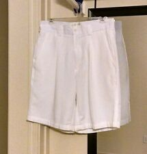 Men's Cubavera® white Casual Short Size 30 pleated Poly/Rayon pre-owned #1630