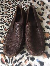 Tommy Bahama Men's Shoes Sz 10.5 Slip On Distressed Basket Pattern Brown