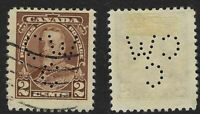 Perfin C46-CW/C: 2c King George V 1935 Issue, 218-1, Canadian Westinghouse Co.