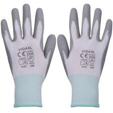 Vidaxl – guantes de trabajo Pu 24 pares blanco y gris talla 8/m