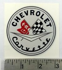 "Vintage Corvette original sticker decal 3"" dia."