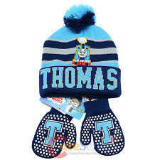 Thomas Tank Engine Friends Beanie Mitten Gloves Set - College Stripe Blue
