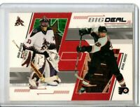 2002-03 IN THE GAME BRIAN BOUCHER & MICHAEL HANDZUS BIG DEAL