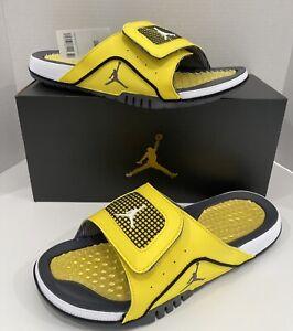 "Air Jordan 4 Retro ""Lightning"" Hydro Slides DN4238-701 Men's Size 12 New (2021)"