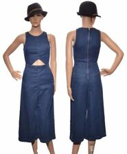 Cotton Blend Patternless Petite Jumpsuits & Playsuits for Women