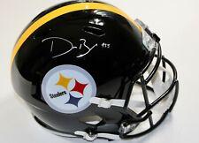 Devin Bush Signed Steelers Full Size Speed Replica Helmet JSA Witnessed