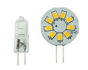 GoldenGadgets RV G4 9 LED Side Pin Bulb for Halogen JC RV Puck Light White 2Pack