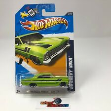 '66 Chevy Nova #106 * GREEN Walmart Only * Hot Wheels 2012 * WG20