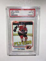 BRIAN PROPP NHL PHILADELPHIA FLYERS 1981 TOPPS #110 EAST PSA 10 GEM MINT POP. 20