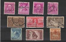 U.S.A. États-Unis 1948 10 timbres oblitérés  /T2035