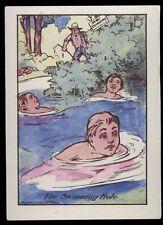 OLD DENVER BUTTER-NUT CO BREAD KIDS SWIMING HOLE PAINT W/ WATER TRADE CARD TC610