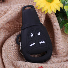 4 Button Silicone Remote Key Cover Shell Case Fob Keychain Ring Fit Saab 9-3 9-5