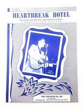 Elvis Presley Rare Collectors Piano Vocal Sheet Music Heartbreak Hotel Love Me T